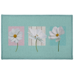 Tapis deco rectangle 50 x 80 cm imprime edenia Bleu