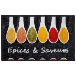tapis deco rectangle 50 x 80 cm imprime epices & saveurs