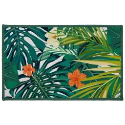 tapis deco rectangle 50 x 80 cm imprime flash tropic