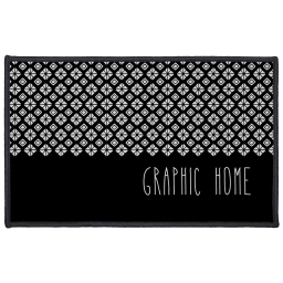 tapis deco rectangle 50 x 80 cm imprime graphic home