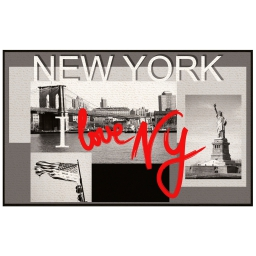 tapis deco rectangle 50 x 80 cm imprime i love nyc