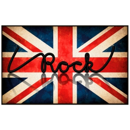 tapis deco rectangle 50 x 80 cm imprime i love rock