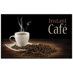 tapis deco rectangle 50 x 80 cm imprime instant cafe