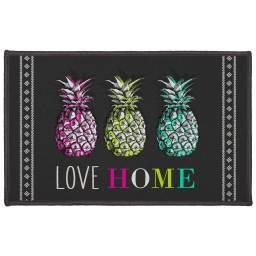 tapis deco rectangle 50 x 80 cm imprime love ananas