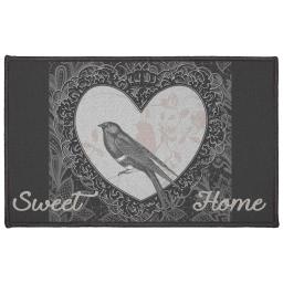 tapis deco rectangle 50 x 80 cm imprime love birds