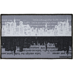 tapis deco rectangle 50 x 80 cm imprime lulu urban