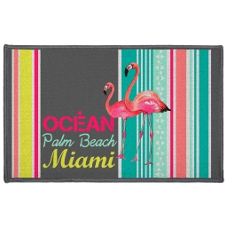 tapis deco rectangle 50 x 80 cm imprime miami