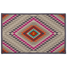 tapis deco rectangle 50 x 80 cm imprime mohican
