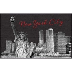 tapis deco rectangle 50 x 80 cm imprime nyc liberty