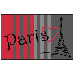 tapis deco rectangle 50 x 80 cm imprime paris eiffel