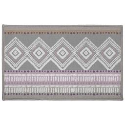 tapis deco rectangle 50 x 80 cm imprime pastel geo