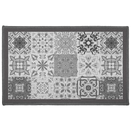 Tapis deco rectangle 50 x 80 cm imprime persane Gris