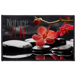 tapis deco rectangle 50 x 80 cm imprime reflet