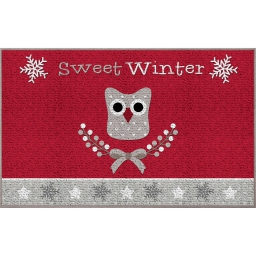 tapis deco rectangle 50 x 80 cm imprime sweet winter