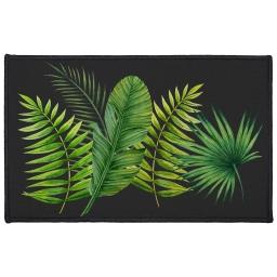 tapis deco rectangle 50 x 80 cm imprime tropical green