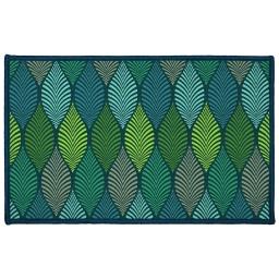 tapis deco rectangle 50 x 80 cm imprime winter green