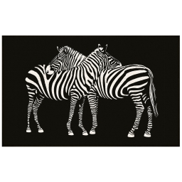 tapis deco rectangle 50 x 80 cm imprime zebre