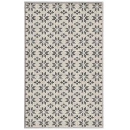 tapis deco rectangle 50 x 80 cm tisse reversible cemento
