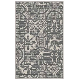 tapis deco rectangle 50 x 80 cm tisse reversible mindila