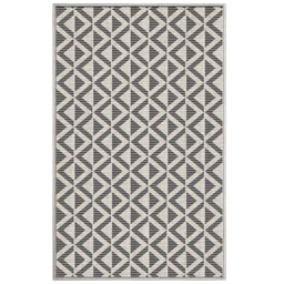 tapis deco rectangle 50 x 80 cm tisse reversible trinity