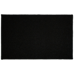 Tapis deco rectangle 50 x 80 cm uni primo Noir