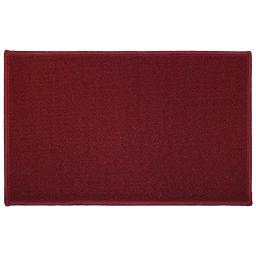 Tapis deco rectangle 50 x 80 cm uni primobis Rouge