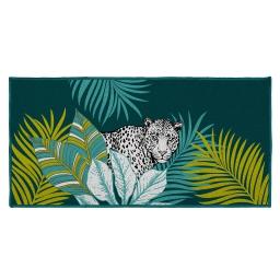 tapis deco rectangle 57 x 115 cm imprime cap nature