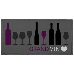 tapis deco rectangle 57 x 115 cm imprime cave a vin