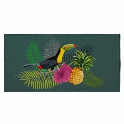 tapis deco rectangle 57 x 115 cm imprime domingo