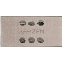 tapis deco rectangle 57 x 115 cm imprime esprit zen