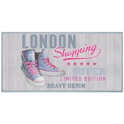 tapis deco rectangle 57 x 115 cm imprime girly london