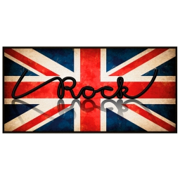 tapis deco rectangle 57 x 115 cm imprime i love rock