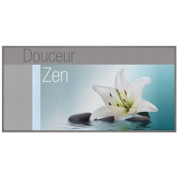 tapis deco rectangle 57 x 115 cm imprime lagon