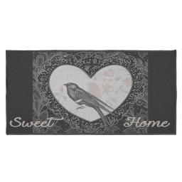 tapis deco rectangle 57 x 115 cm imprime love birds