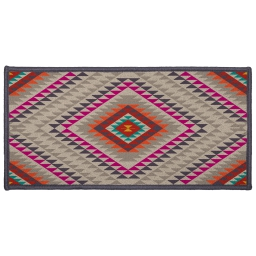 tapis deco rectangle 57 x 115 cm imprime mohican