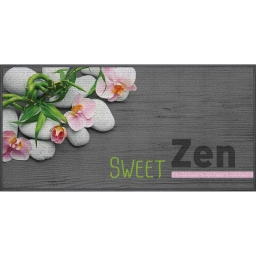 tapis deco rectangle 57 x 115 cm imprime sweet zen