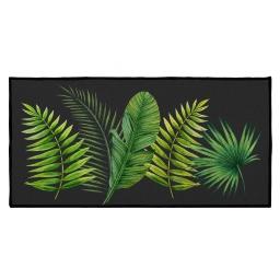 tapis deco rectangle 57 x 115 cm imprime tropical green