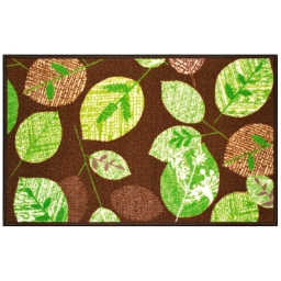 tapis deco rectangle 57 x 115 cm imprime vegetal