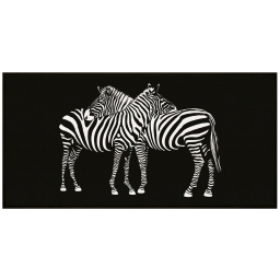 tapis deco rectangle 57 x 115 cm imprime zebre