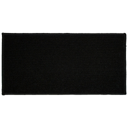 Tapis deco rectangle 57 x 115 cm uni primo Noir