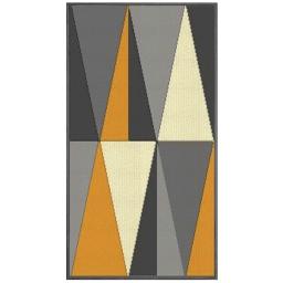Tapis deco rectangle 60 x 110 cm tisse khaba Jaune