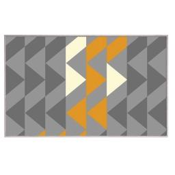 Tapis deco rectangle 60 x 110 cm tisse louka Gris/jaune