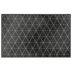 Tapis deco rectangle 60 x 110 cm tisse triosika Gris Fonce