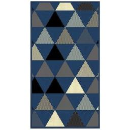 Tapis deco rectangle 60 x 110 cm tisse twini Bleu