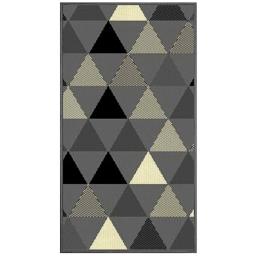 Tapis deco rectangle 60 x 110 cm tisse twini Gris