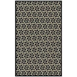 tapis deco rectangle 68 x 110 cm viscose tissee facettes