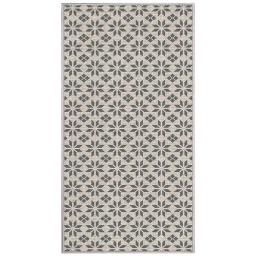 tapis deco rectangle 80 x 150 cm tisse reversible cemento