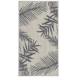 tapis deco rectangle 80 x 150 cm tisse reversible cubana