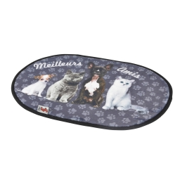 tapis l60*l40cm design meilleurs amis 100% polyester animaux