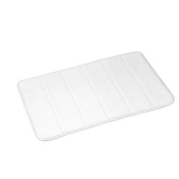 Tapis memoire de forme 40 x 60 cm microfibre unie vitamine Blanc